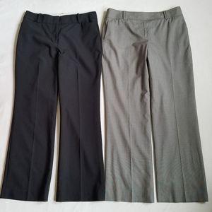 Ann Taylor dress career pants navy blue gray 8P